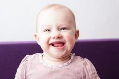 Bebé sonriente Fotografía de archivo libre de regalías
