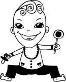 Bebé sonriente ilustración del vector