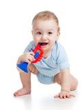 Bebé sonriente del muchacho fotografía de archivo libre de regalías