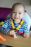 Bebé sonriente feliz Fotos de archivo