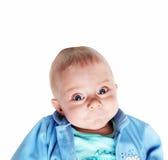 Bebé sonriente lindo - cinco meses fotografía de archivo