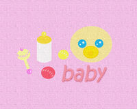 Bebé Texture_Pink Fotos de archivo