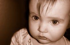 Bebé triste Imágenes de archivo libres de regalías