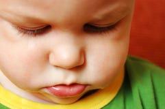 Bebé triste gritador Fotografía de archivo