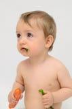 Bebé vegetariano Fotografía de archivo