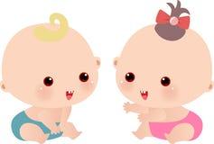 Bebé y bebé Fotografía de archivo