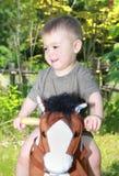 Bebé y caballo Imagen de archivo