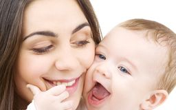 Bebé y mam3a Imágenes de archivo libres de regalías