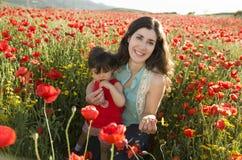 Bebé y mama Imagenes de archivo