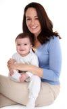 Bebé y momia Imagen de archivo