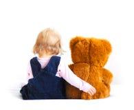 Bebé y oso Imágenes de archivo libres de regalías