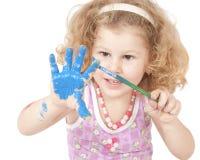 Bebé y pintura Imágenes de archivo libres de regalías
