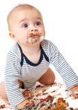 Bebé y torta imágenes de archivo libres de regalías