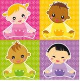 bebés ilustração royalty free
