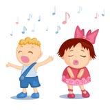 Bebés cantantes Imagen de archivo libre de regalías