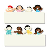 Bebés de la bandera Foto de archivo libre de regalías