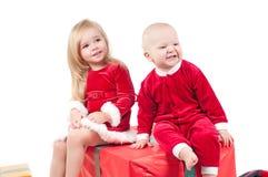 Bebés de la Navidad Fotos de archivo libres de regalías