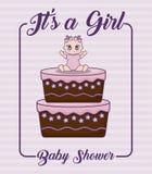 Bebés del icono del ilustration del vector del diseño de la fiesta de bienvenida al bebé Imagen de archivo libre de regalías