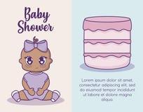 Bebés del icono del ilustration del vector del diseño de la fiesta de bienvenida al bebé Foto de archivo