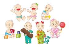 Bebés felices Imagen de archivo libre de regalías