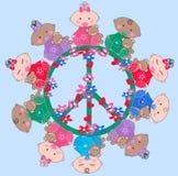 Bebés mezclados étnicos Foto de archivo libre de regalías