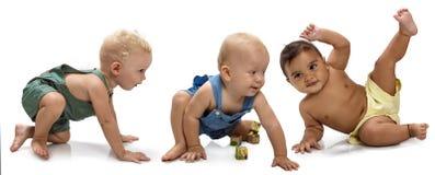 Bebés multiétnicos Imagenes de archivo