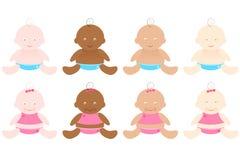Bebés multirraciales Imagen de archivo