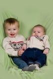 Bebés na roupa do inverno Fotos de Stock Royalty Free