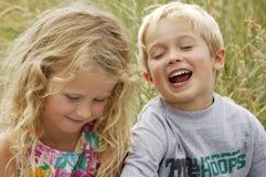 Bebés rubios fotografía de archivo libre de regalías