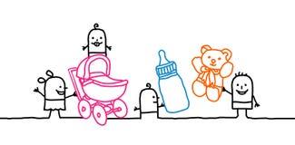 Bebés y cuarto de niños stock de ilustración