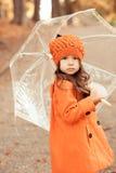 Bebê à moda na roupa do outono Imagem de Stock Royalty Free