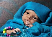 Bebê étnico bonito foto de stock royalty free
