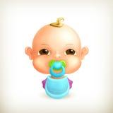 Bebê, ícone Fotografia de Stock