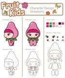Bebê 7 da fruta e verdura ilustração royalty free