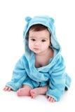 Bebê adorável no vestido de limpeza Fotografia de Stock