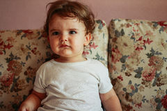 Bebê afligido Fotografia de Stock