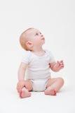 Bebê agradável no t-shirt branco Imagens de Stock Royalty Free