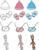 bebê ajustado: objetos para miúdos Fotos de Stock Royalty Free
