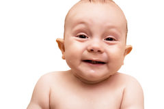 Bebê alegre no banho Foto de Stock Royalty Free