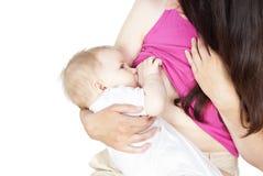 Bebê amamentando Imagem de Stock
