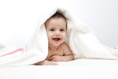 Bebê após o banho Foto de Stock