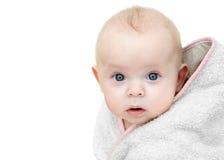 Bebê após o banho. Fotos de Stock Royalty Free
