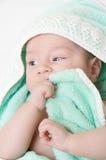 Bebê após o banho Fotografia de Stock