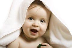 Bebê após o banho Fotografia de Stock Royalty Free