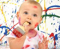 Bebê artístico Fotografia de Stock