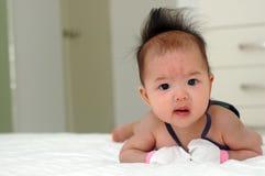Bebê asiático bonito Fotografia de Stock