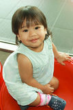 Bebê asiático de sorriso Foto de Stock