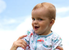 Bebê audaz Fotografia de Stock