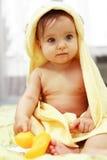 Bebê bonito após o banho Imagem de Stock Royalty Free