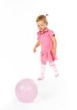 Bebê bonito com ballon Imagens de Stock Royalty Free